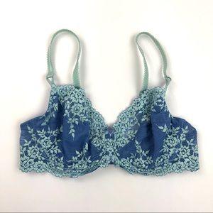 Wacoal Bra Lace Blue Size 36C